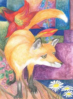Painting - fox by Cherie Sexsmith