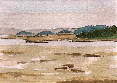 Salt Marsh. New England Painting - Fox Creek From Crane Estate by Clayton Harper