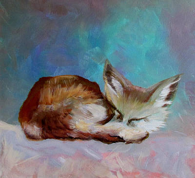 Painting - Fox Cub by Susan Duxter