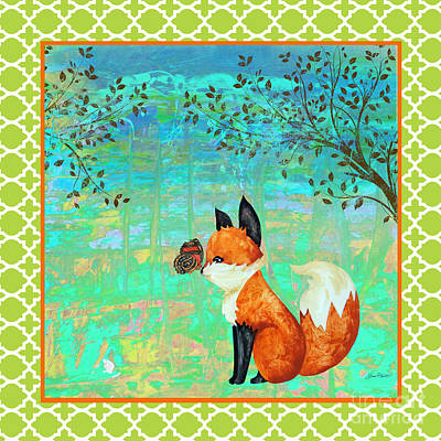Painting - Fox-d by Jean Plout