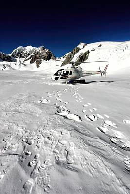 Firefighter Patents Royalty Free Images - Fox Glacier Helicopter Royalty-Free Image by Amanda Stadther