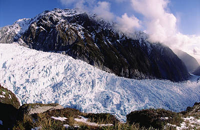 Fox Glacier Photograph - Fox Glacier Westland National Park New by Tui De Roy