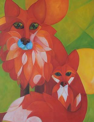 Fox Haven Art Print by Denise Fisher