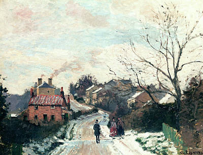 Winter Road Scenes Painting - Fox Hill Upper Norwood by Camille Pissarro