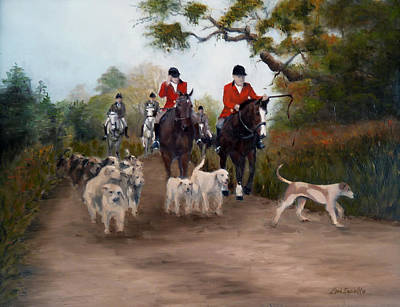 Painting - Fox Hunt by Lori Ippolito