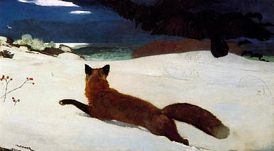 Fox Hunt Art Print by Winslow Homer