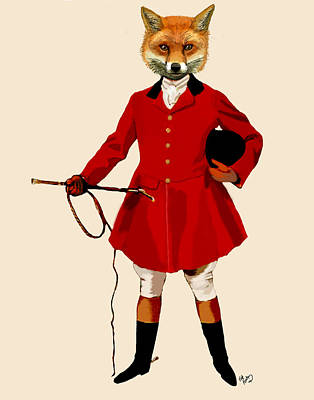 Fox Digital Art - Fox Hunter 2 Full by Kelly McLaughlan