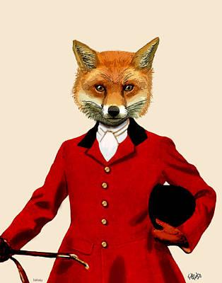 Fox Digital Art - Fox Hunter 2 Portrait by Kelly McLaughlan