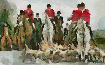 Old Town Digital Art - Fox Hunting 5 by Yury Malkov