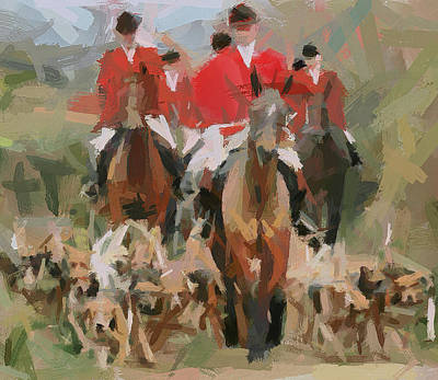 Fox Hunting 8 Art Print