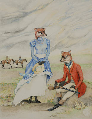 Fox Hunting Original by Erin Camarca