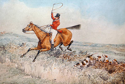 Lively Painting - Fox Hunting by Henry Thomas Alken