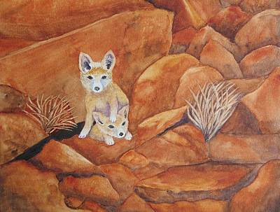 Painting - Fox Kitts by Patricia Beebe
