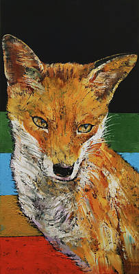 Foxes Painting - Red Fox by Michael Creese