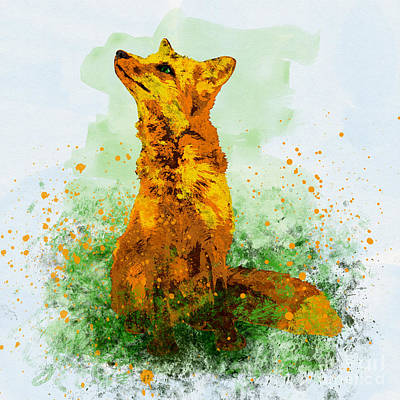 Mixed Media - Fox by Olga Hamilton