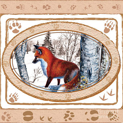 Painting - Fox On The Trail by Sher Sester