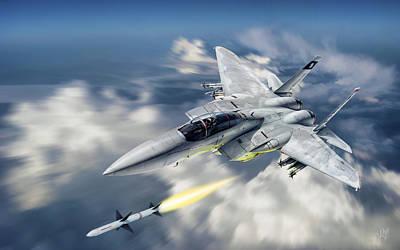 F-15c Eagle Digital Art - Fox One by R Aa