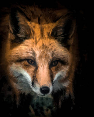 Digital Art - Fox Portrait by Ernie Echols