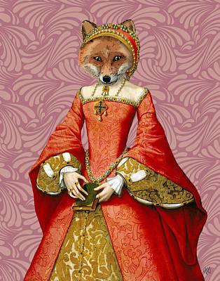 Fox Digital Art - Fox Queen by Kelly McLaughlan