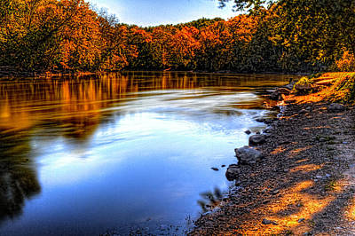 Photograph - Fox River Fall Colors I by Roger Passman