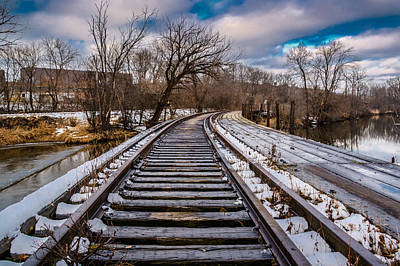 Photograph - Fox River Railroad Bridge by Randy Scherkenbach