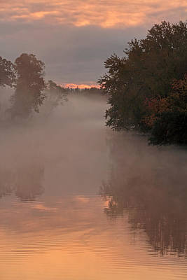 Photograph - Fox River Sunrise by Theo