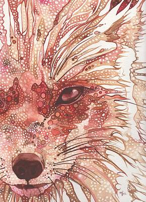 Red Nose Painting - Fox by Tamara Phillips