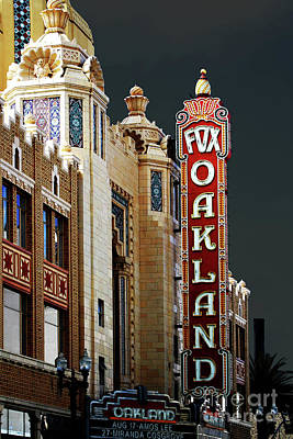 Fox Theater . Oakland California Print by Wingsdomain Art and Photography
