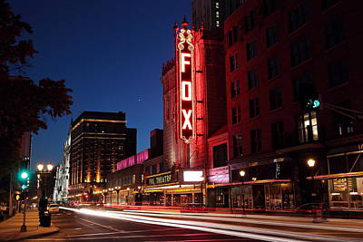 Photograph - Fox Theater Twilight by Scott Rackers