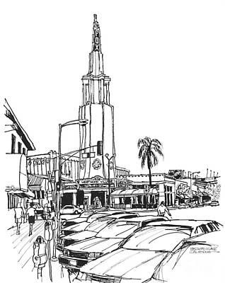 Fox Theater Westwood Village California Art Print