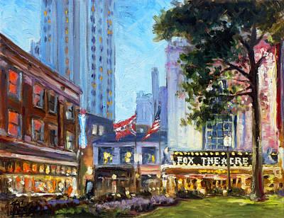 St. Louis Painting - Fox Theatre Grand Boulevard by Irek Szelag