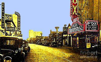Fox Theatre In Hackensack N J In 1935 Art Print