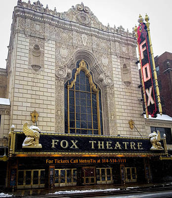 Fox Theatre St. Louis Art Print by Cathy Smith