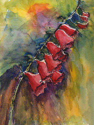 Painting - Foxgloves by Linda Feinberg