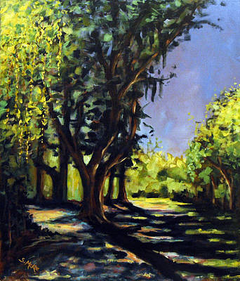Painting - Foxgrapes And A Sandy Road by Suzanne McKee