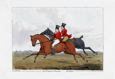 Foxhunting - All Right Art Print by Charlie Ross