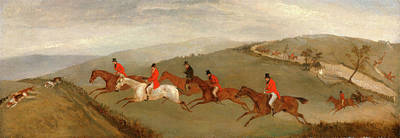 Foxhunting The Few Not Funkers, Richard Barrett Davis Print by Litz Collection