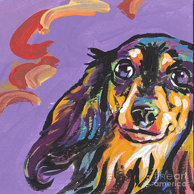 Dachshund Wall Art - Painting - Foxie Doxie by Lea S