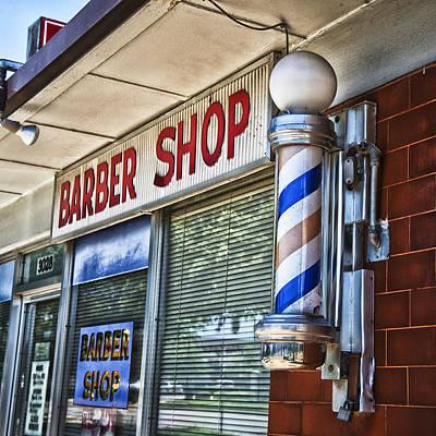 Window Signs Photograph - Fox's Barber Shop by David Waldo
