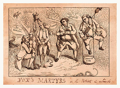Voted Images Drawing - Foxs Martyrs Or The Patriots In Limbo, England  Publisher by English School