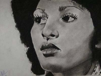 Drawing - Foxy Brown by Aaron Balderas