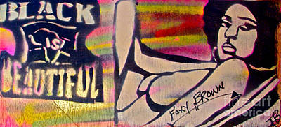 Tony B. Conscious Painting - Foxy Brown by Tony B Conscious