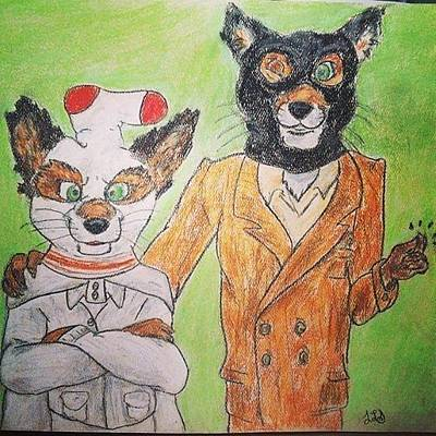Jessica Sanders Drawing - Foxy by Jessica Sanders