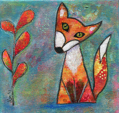 Painting - Foxy by Lynda Metcalf