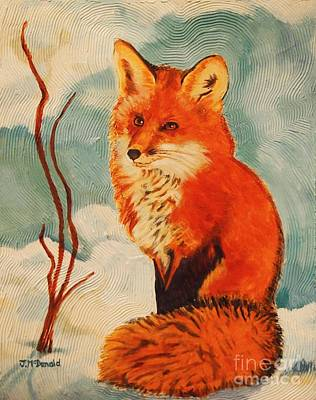 Painting - Foxy Presence by Janet McDonald