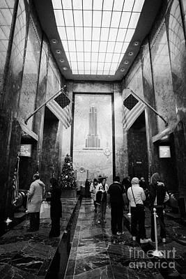 Foyer Of The Empire State Building New York City Art Print by Joe Fox