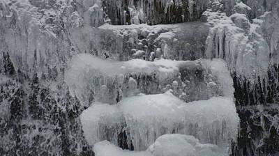 Splashing Etc Photograph - Fozen Ice Skull... by Rob Luzier