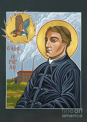 Painting - Fr. Gerard Manley Hopkins The Poet's Poet 144 by William Hart McNichols