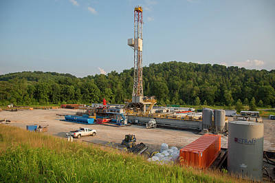 Drilling Rig Photograph - Fracking Drill Rig by Jim West