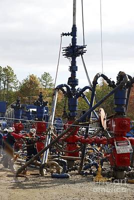 Fayetteville Photograph - Fracking Well Heads by Bill Cunningham/us Geological Survey